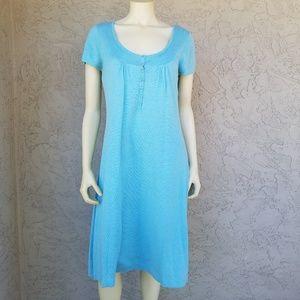 Boden Scoop Neck Thin Knit Aqua Blue Tunic Dress